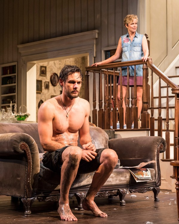 """Robert Beitzel and Melora Hardin in Branden Jacobs-Jenkins' """"Appropriate."""" Directed by Eric Ting, """"Appropriate"""" plays September 23 – November 1, 2015, at the Center Theatre Group/Mark Taper Forum. For tickets and information, please visit CenterTheatreGroup.org or call (213) 628-2772.   Contact:  CTG Media and Communications/(213) 972-7376/CTGMedia@ctgla.org Photo by Craig Schwartz"""