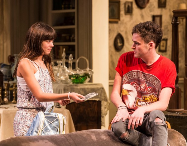 """Grace Kaufman and Will Tranfo in Branden Jacobs-Jenkins' """"Appropriate."""" Directed by Eric Ting, """"Appropriate"""" plays September 23 – November 1, 2015, at the Center Theatre Group/Mark Taper Forum. For tickets and information, please visit CenterTheatreGroup.org or call (213) 628-2772.   Contact:  CTG Media and Communications/(213) 972-7376/CTGMedia@ctgla.org Photo by Craig Schwartz"""