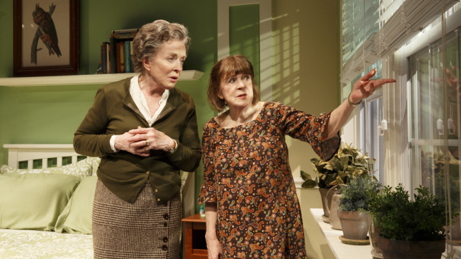 Holland Taylor and Marylouise Burke in Ripcord. Credit: Joan Marcus