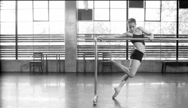 """Allison Ulrich at the barre in """"Question of You"""""""