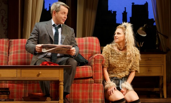 Matthew Broderick and Annaleigh Ashford in Sylvia. Credit: Joan Marcus