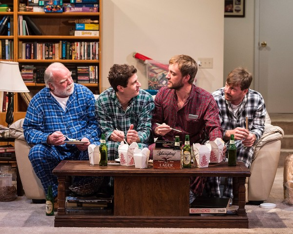 "l-r, Richard Riehle, Gary Wilmes, Frank Boyd and Brian Slaten in ""Straight White Men,."