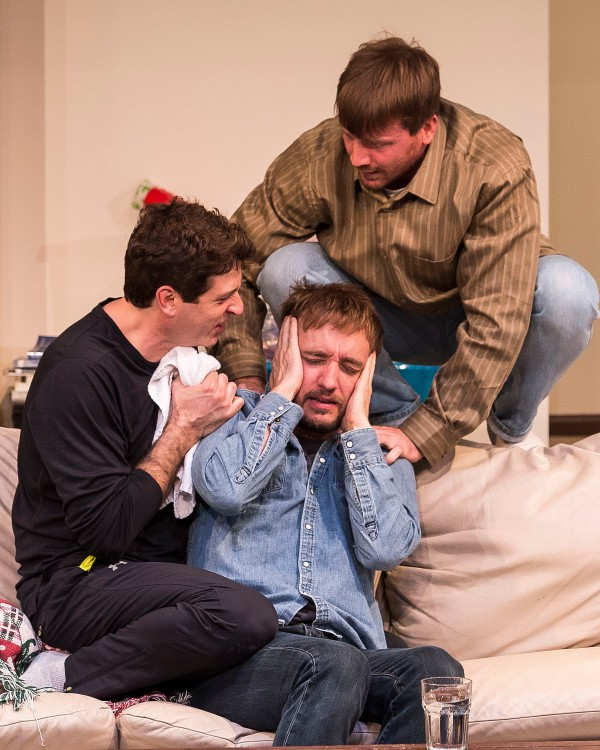 "l-r, Gary Wilmes, Frank Boyd and Brian Slaten in ""Straight White Men."