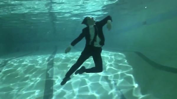 A weightless David Bolger in Deep End Dance