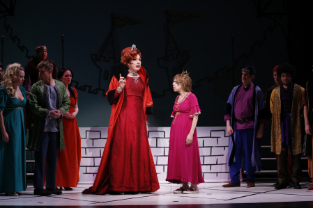 John Epperson and Jackie Hoffman in Once Upon a Mattress. Credit: Carol Rosegg