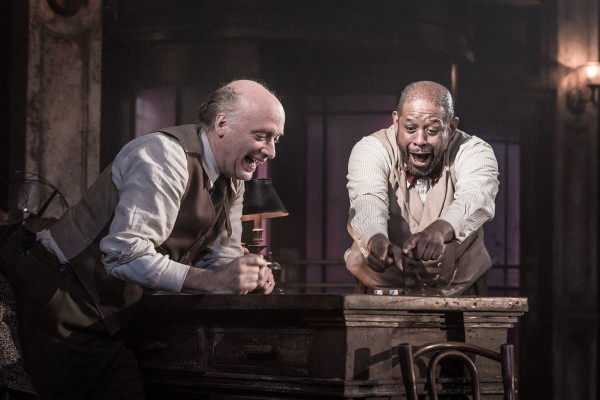 Frank Wood and Forest Whitaker in Hughie. Credit: Marc Brenner