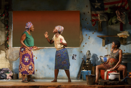 Saycon Sengbloh, Lupita Nyong'o, and Pascale Armand in Eclipsed. Credit: Joan Marcus