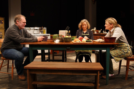 Jay P. Sanders, Meg Gibson, and Lynn Hawley in Hungry. Credit: Joan Marcus