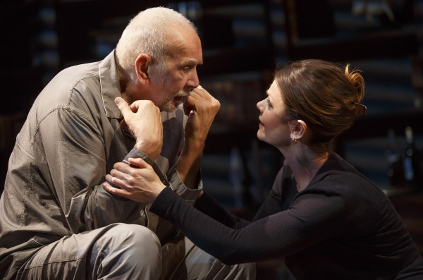 Frank Langella and Kathryn Erbe in The Father Credit: Joan Marcus