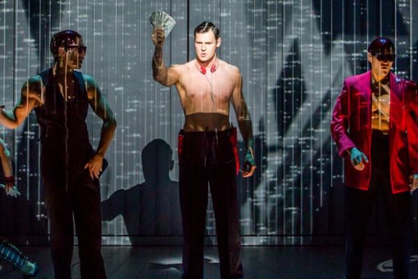 Benjamin Walker (center) in American Psycho Credit: Jeremy Daniel