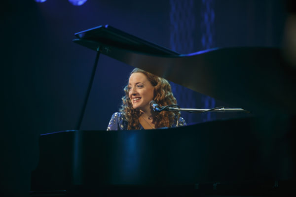 Abby Mueller as Carole King in Beautiful at The Pantages Theatre.