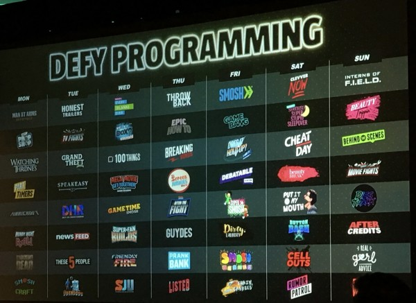 Defy Media has adapted a traditional broadcast release schedule to the digital format