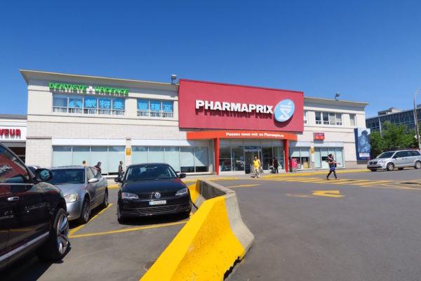 drugstore blind façade