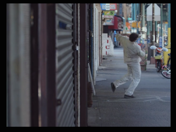 "Jason Kittleberger stumbles down a city street in ""Afloat"""