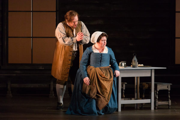 Brian Mulligan and Jamie Barton in The Crucible at the Glimmerglass Festival. Credit: Karli Cadel/Glimmerglass Festival