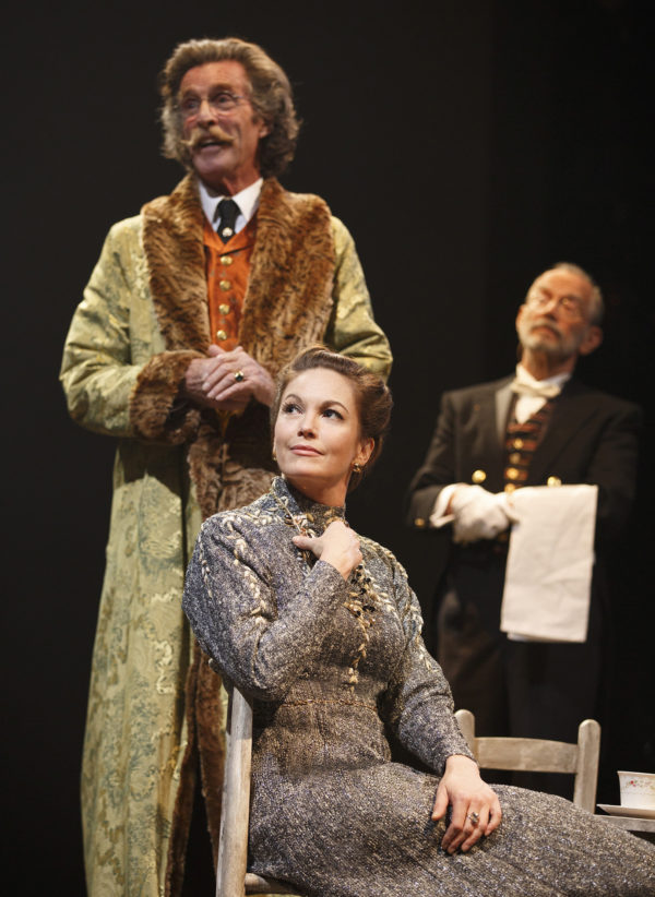 John Glover, Diane Lane, and Joel Grey in The Cherry Orchard Credit: Joan Marcus