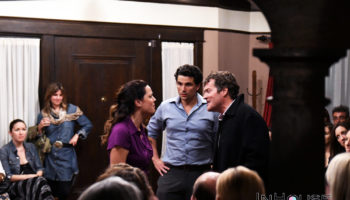 "Caroline Morahan, Dylan Ramsey, and Tim Redmond in ""Dinner With Friends"""