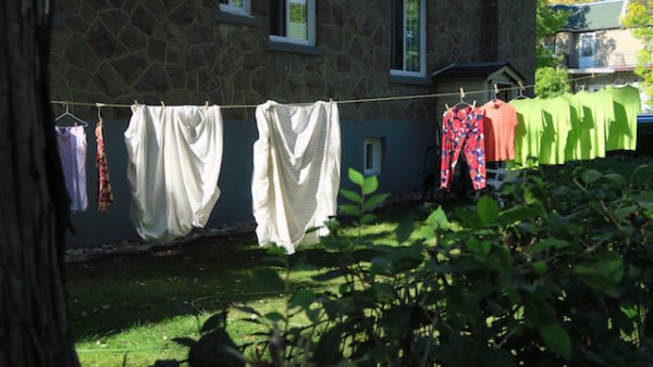 side yard clothesline