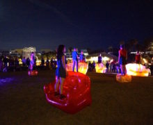 Lionel Popkin's Inflatable Park  Photo by Aaron Paley