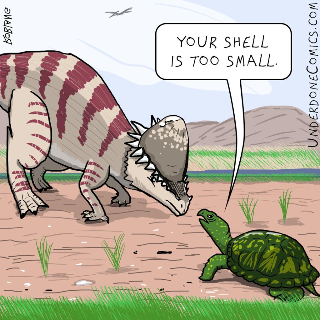Pachycephalosaurus and the Turtle