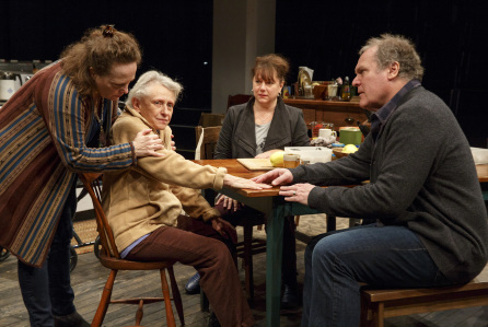 Maryann Plunkett, Roberta Maxwell, Amy Warren, and Jay O. Sanders in Women of a Certain Age Credit: Joan Marcus