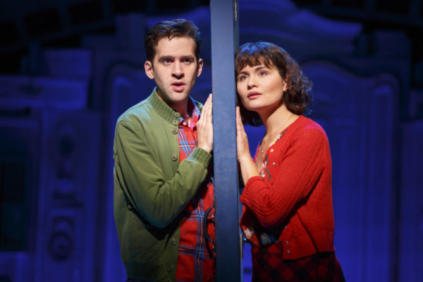 l-r, Adam Chanler-Berat and Phillipa Soo in Amélie, A New Musical at The Ahmanson Theatre.