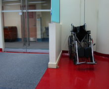 wheelchair at the entry door