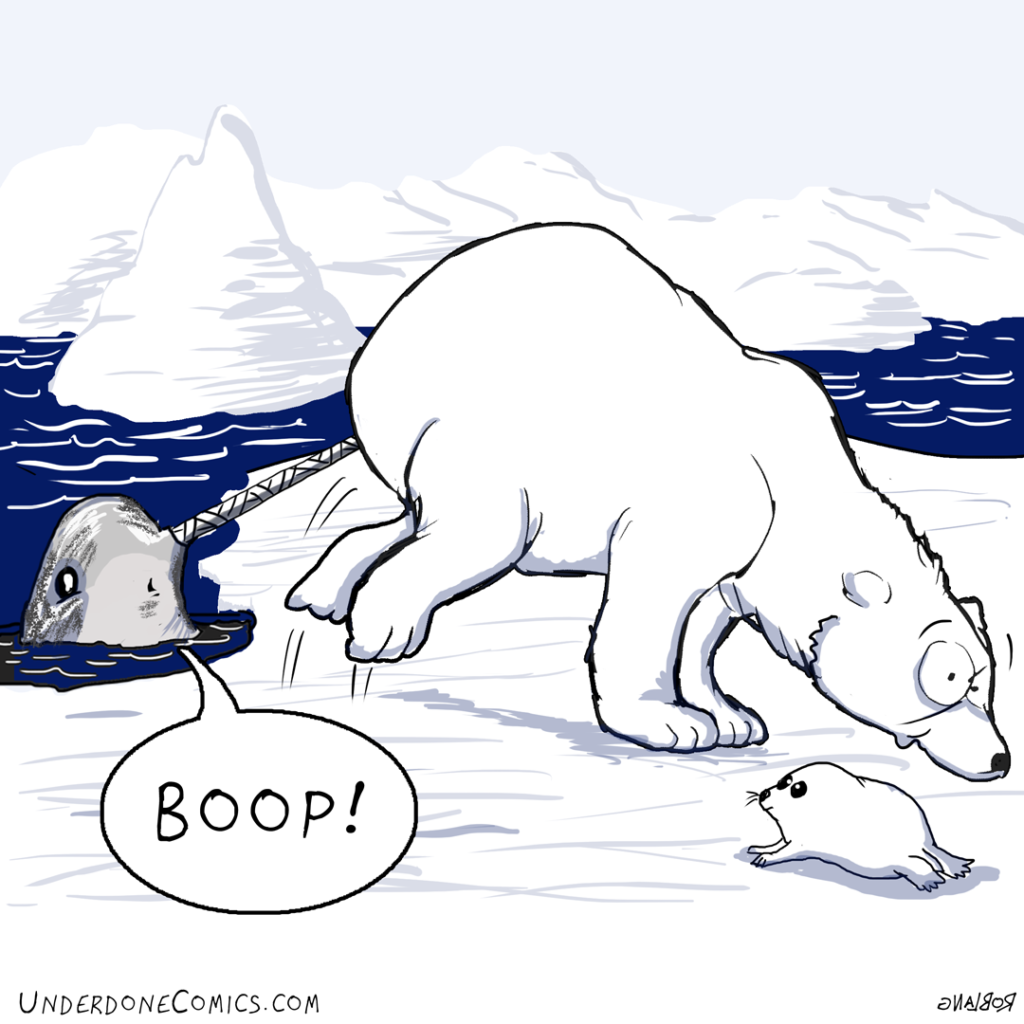 Narwhals and seals are friends.
