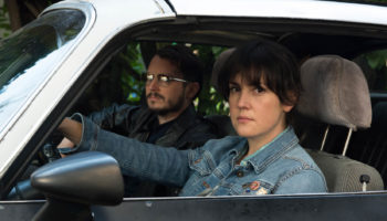 Melanie Lynskey and Elijah Wood appear in I Don't Feel at Home in This World Anymore by Macon Blair, an official selection of the U.S. Dramatic Competition at the 2017 Sundance Film Festival. Courtesy of Sundance Institute | photo by Allyson Riggs.