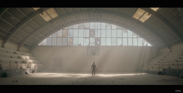 "A lone dancer moves in ""Empty"""