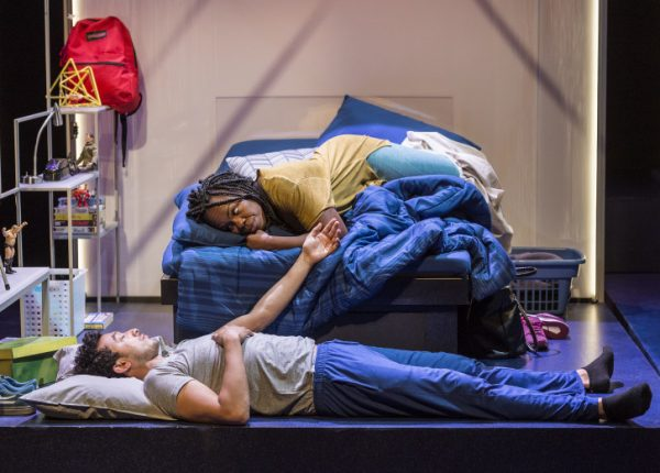 Wade Allain-Marcus (on the floor) and Ngozi Anyanwu in Good Grief.