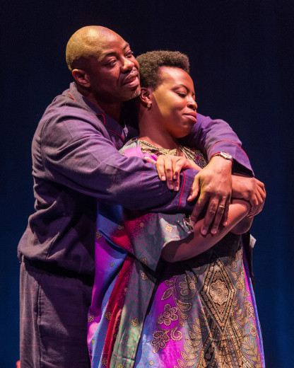 Dayo Ade and Omozé Idehenre in Good Grief at the Kirk Douglas.
