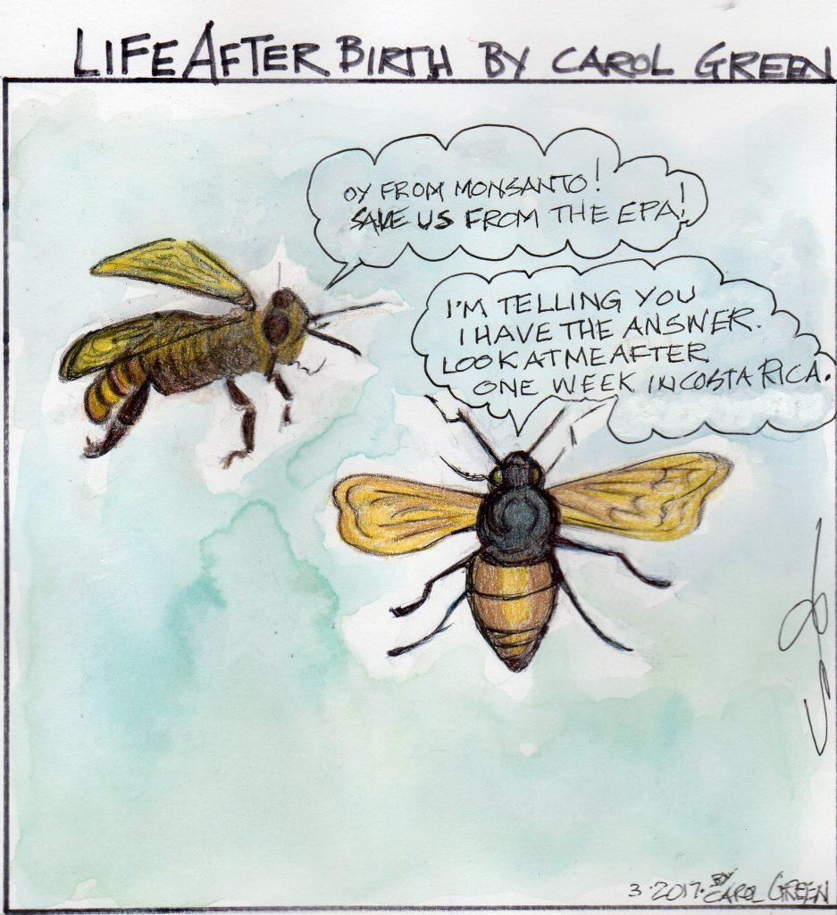 Bye-bye, bees.