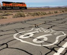 Route 66 and BNSF Train by Jeffrey Alfier_featured2