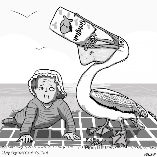 UNDERDONE: pelican-goldfish