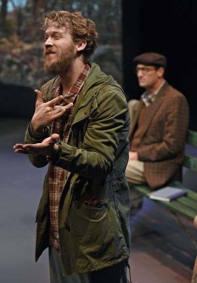 Russell Harvard as Jerry in Edward Albee's At Home At the Zoo.