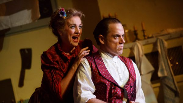 Siobhan McCarthy and Jeremy Secomb in Sweeney Todd, The Demon Barber of Fleet Street Credit: Joan Marcus
