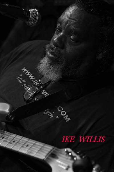 Still thinking of Frank Zappa, Ike Willis plays with Lucky Otis at The Theory on April 17, 2017. Photography by Jim Storm.