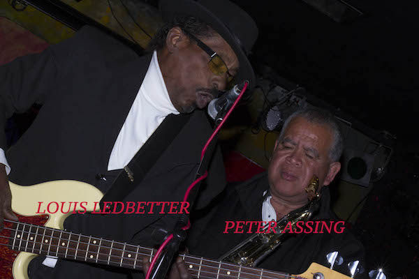 """""""Being in the mournful moment and loving the sound."""" Louis Ledbetter and Peter Assing at The Paladino on April 17, 2017. Photography by Jim Storm."""
