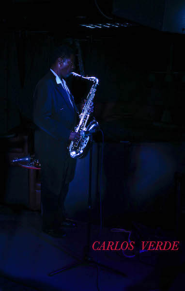 """Carlos Verde during """"Stormy Monday"""" at The Theory on April 17, 2017. Photography by Jim Storm."""