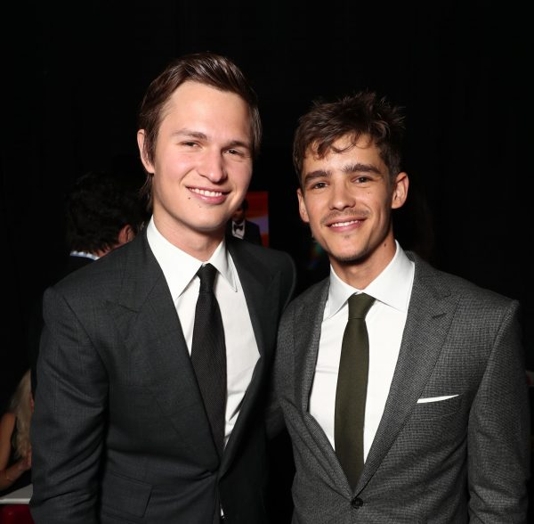 Ansel Elgort, Brenton Thwaites, photo by Todd Williamson-Getty Images for CinemaCon