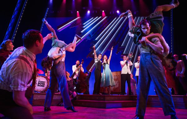 Corey Cott, Laura Osnes and company in Bandstand. Credit: Jeremy Daniel