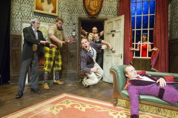 The cast of The Play That Goes Wrong. Credit: Alastair Muir