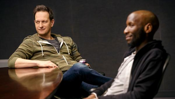 Josh Charles and Philip James Brannon in The Antipodes Credit: Joan Marcus