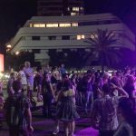 White Night at Dizengoff Square, Tel Aviv. Copyright Rick Meghiddo. All Rights Reserved.