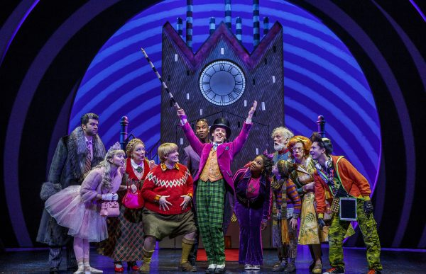 Christian Borle (center) and the cast of Charlie and the Chocolate Factory. Credit: Joan MArcus