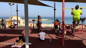 Beach Gym at Tel Baruch. Copyright Rick Meghiddo. All Rights Reserved.