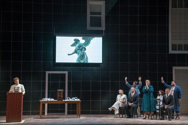The company of Angels in America, Peter Eotvos's opera version of Tony Kushner's play. Credit: Sarah Shatz