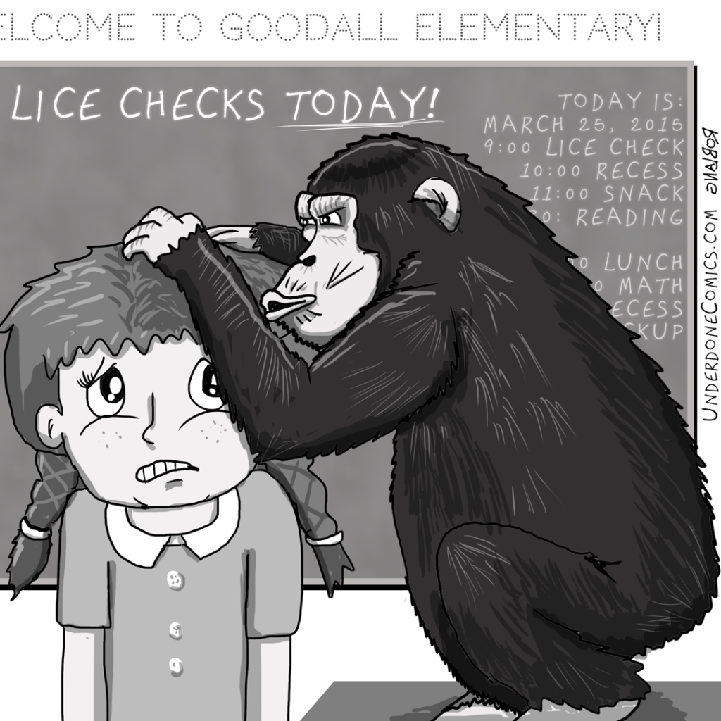 UNDERDONE Lice Check Chimp