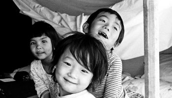 Vietnamese refugees. Camp Pendelton, California. May 8, 1975